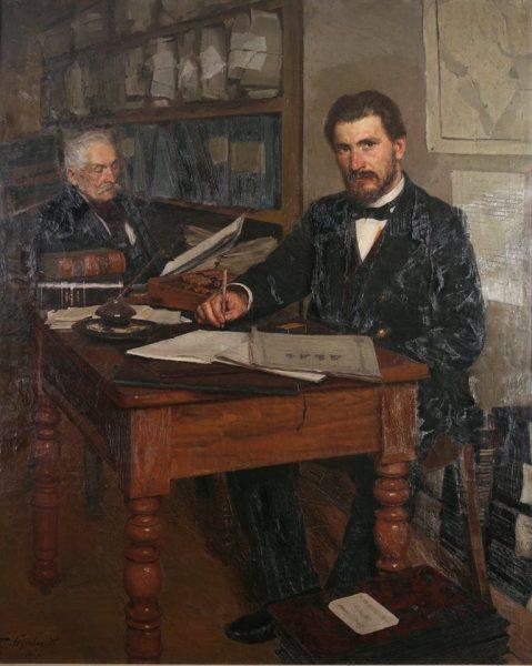 Євген Буковецький «В архіві» (кінець XIX — початок ХХ століття)